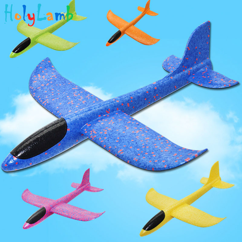 48cm Big Outdoor Fun Sports Ultra-light Hand Throwing Plane Model Foam Aircraft Children's Throwing Glider Toys For Children