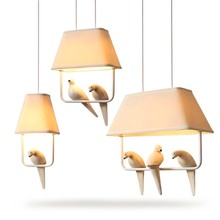 BOKT Modern Love Birds Pendant Light E27 Loft Hanging Lamp Pendant Light Kitchen Living Room Dining Room Light For Home Lighting e27 pendant light hanging lamp iron bird cage modern light for home garden coffee room decoration