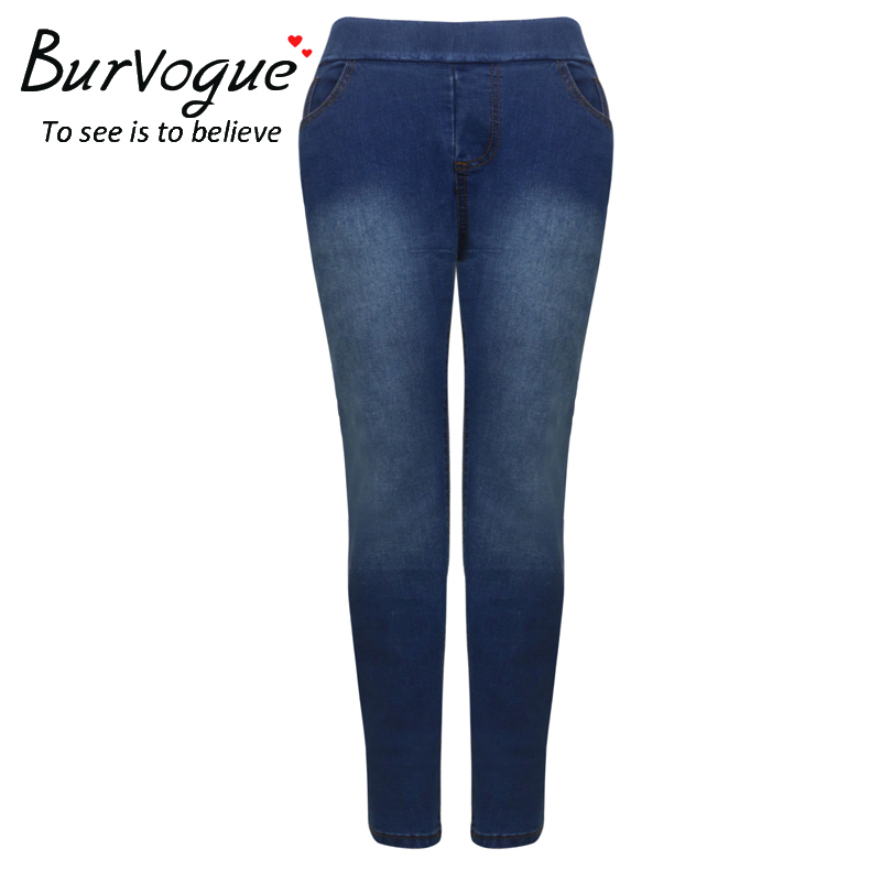 Burvogue Women Skinny Butt Lifting Jeans Femme Lady Slim Fashion Denim Full Lenght Pencil Pants Ripped boyfriend Jeans for women цена 2017