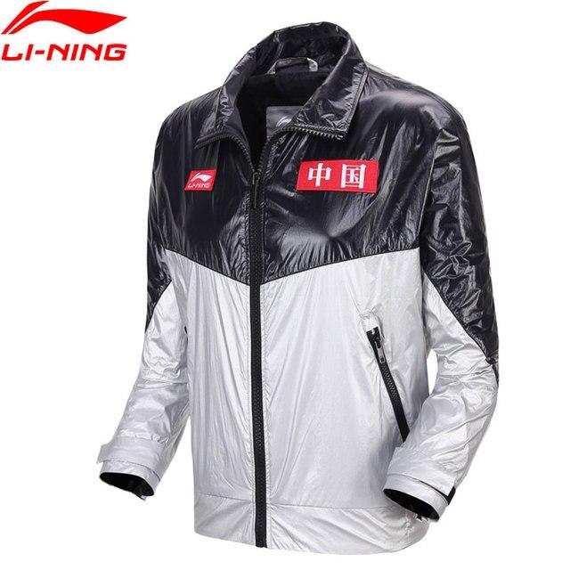 Li-Ning Men PFW The Trend Jacket 100% Nylon Color-block Regular Fit China LiNing Sport Jackets Coats AJDN197 MWJ2609