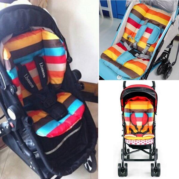 Fashion Liner Car Seat Pad Waterproof Padding Pram Rainbow Baby Kids Stroller Cushion