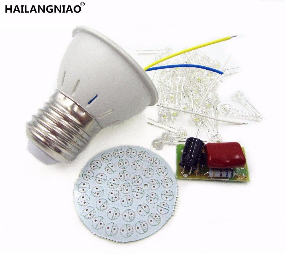 NEW 5pcs/lot Energy-Saving 38 LEDs Lamps DIY Kits Electronic Suite