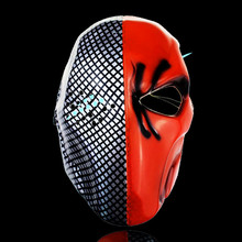 2pcs DEATHSTROKE MASK from Batman Arkham Origin party cosplay fun costume helloween Airsoft Mask Outdoor Sport