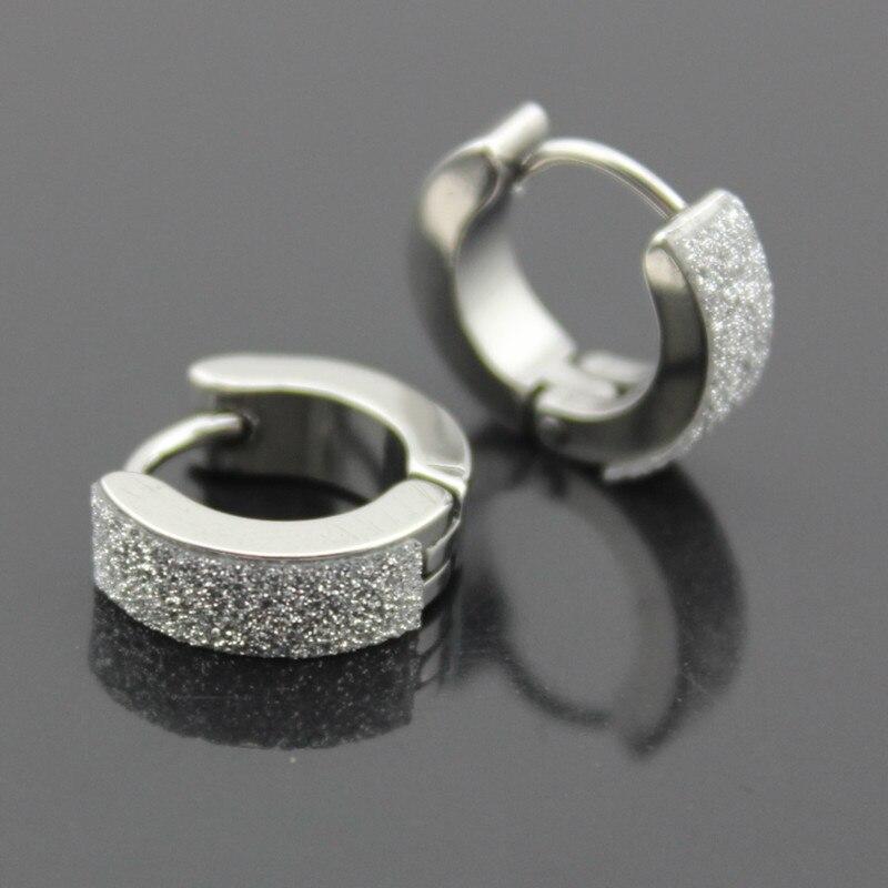1 Pair Stainless Steel Ear Studs Earrings Black Plated Round Shaped with Butterfly Clasp Push Back Earrings Women Men Earrings