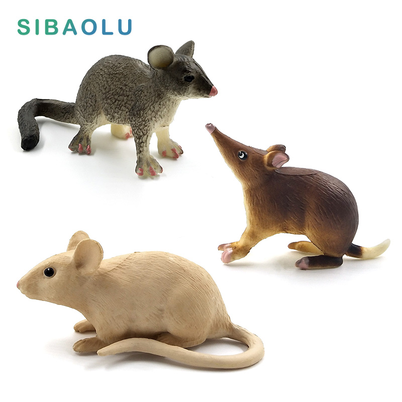 Simulation cute Rodent Mouse rat figurine animal model Bonsai home decor miniature fairy garden decoration accessories modern in Figurines Miniatures from Home Garden