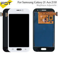 Adjust light 100% Tested Replacement LCD For Samsung Galaxy J1 Ace J110 SM J110F J110H J110FM Screen Display Touch Digitizer