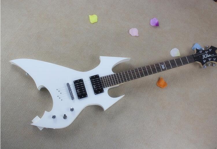 Vente chaude B. C. Riche spécial en forme de guitare électrique Métallique bleu après avoir enfilé Un Autre métal rouge et noir peut choisir