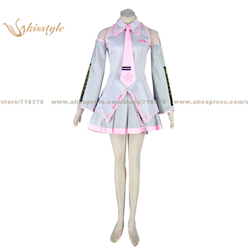 Kisstyle Fashion VOCALOID Sakura Miku Silvery Uniform COS Clothing Cosplay Costume,Customized Accepted