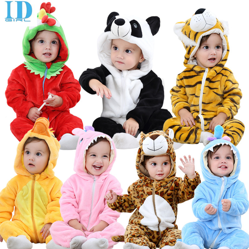 2017 Baby clothes Newborn Rompers Coral Fleece Cute Animal Jumpsuit Spring Autumn Infant Baby Girl Boy Romper autumn baby clothes flannel baby boys clothes newborn fleece animal girls jumpsuit hooded toddler cute bear romper baby costumes