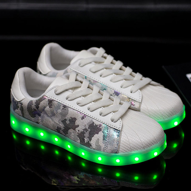 Women Led Shoes For Adults 2017 Summer Light Up Sneakers Designer