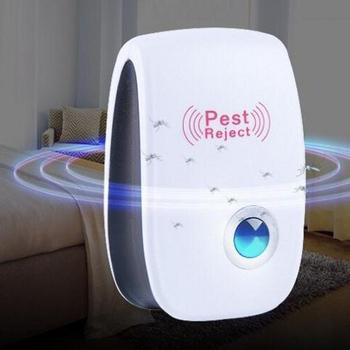 Ultradźwiękowy elektroniczny środek odstraszający komary domowy środek odstraszający owady odstraszający gryzonie karaluch tanie i dobre opinie Mrówki Chrząszcze Karaluchy Muchy Myszy Termity 100-240 v Ultrasonic Pest Repellers
