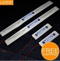Free Shipping LED Stainless Steel Door Sill Scuff Plate for Toyota Yaris 2007 2008 2009 2010 2011 2012 (2007-2012)