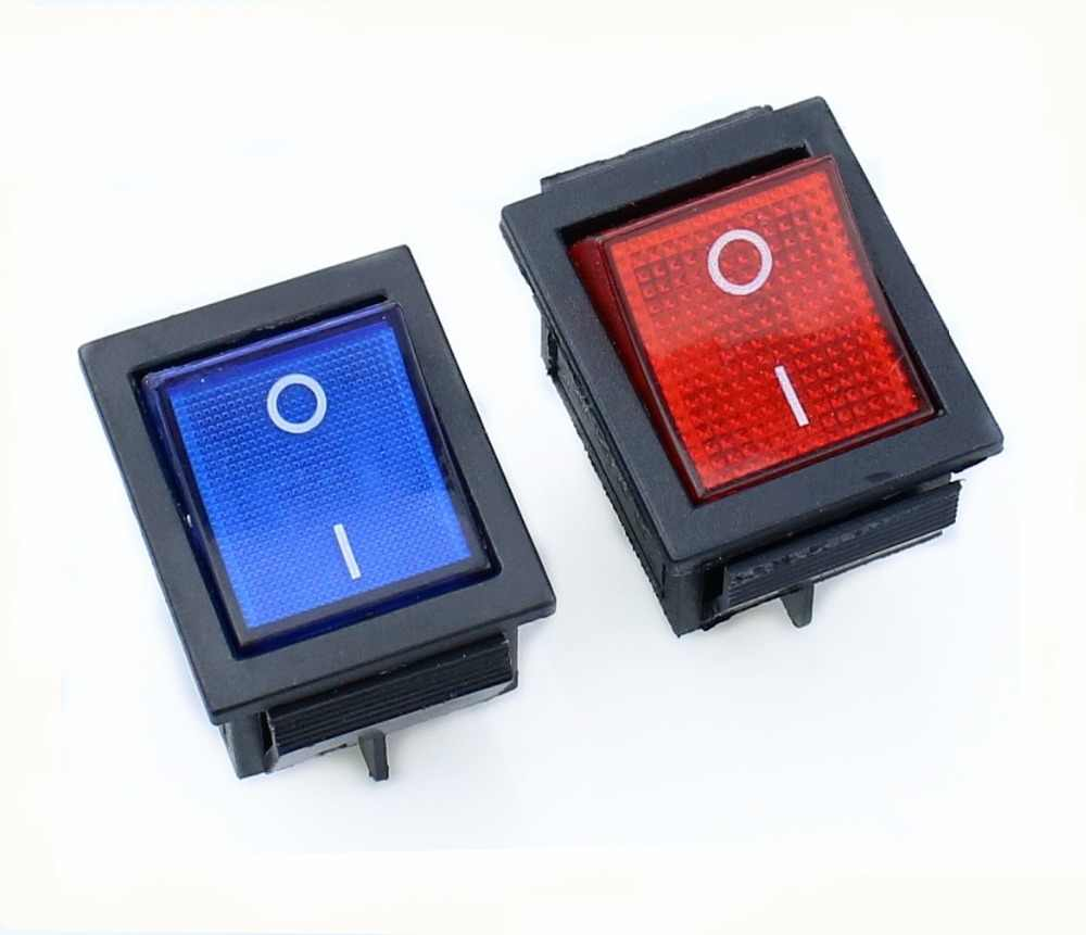 Защелкивающаяся клавишная кнопка выключателя питания I/O 4 контакта со светом 16A 250VAC 20A 125VAC KCD4