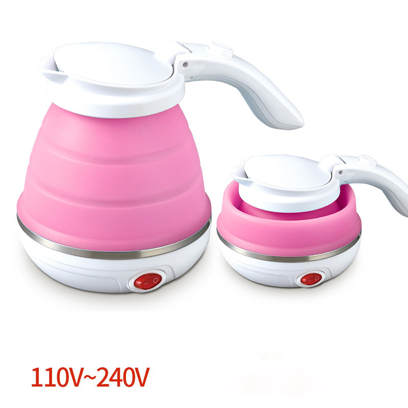 лучшая цена Car Portable Mini Electric Kettle Folding Travel Kettle Food Grade Silicone With 304 Stainless Steel Thermopot 110V-240V