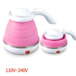 Car Portable Mini Electric Kettle Folding Travel Kettle Food Grade Silicone With 304 Stainless Steel Thermopot 110V-240V