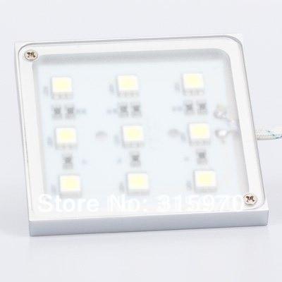 led backlight 9pcs 5050smd led accent light slim type 12v square shape led cabinet light white accent lighting type