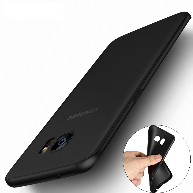 Ultra Thin Black Scrub Matte Soft Silicon TPU Case for Samsung Galaxy J1 J3 J5 J7 A3 A5 A7 2015 2016 2017 S5 S6 S7 Edge S8 Plus