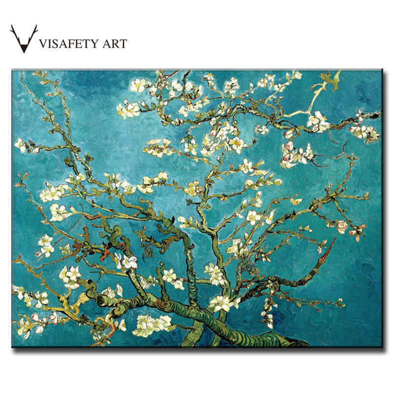 Classic Van Gogh Oil Painting Prints On Canvas The Almond Blossom Canvas Painting Abstract Flower Wall Picture for Living Room