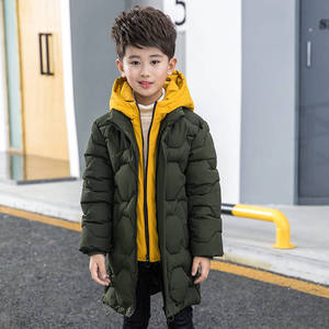 Image 5 - בני כותנה מעיל 2019 ילדים חדשים של גברים של החורף למטה מעיל כותנה ילד גדול ילד מזויף שתי כותנה מעיל עבה מעיל