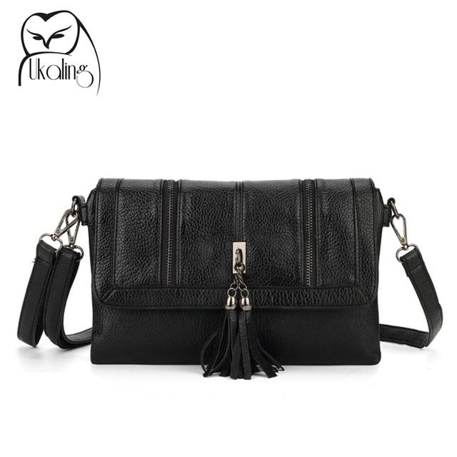d68a38872d79 UKQLING Long Strap Women s Bag Small Crossbody Bags for Women Leather  Handbag Tassel Clutch Purse and