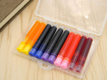 Kotak Pack 10 PC Warna Fountain Pen Ink Refill Converter Pump 3.4 Mm Kartrid Pena Isi Ulang(China)