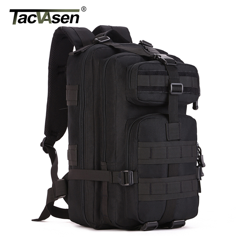 TACVASEN Men's Tactics Backpacks Laptop Backpack Military Camouflage Backpack 30L & 40L Waterproof Travel Knapsack TD-SHZ-004 tacvasen men s tactics backpack travel shoulder bags camouflage rucksack 15 6 inches laptop camera military bag td szlm 017