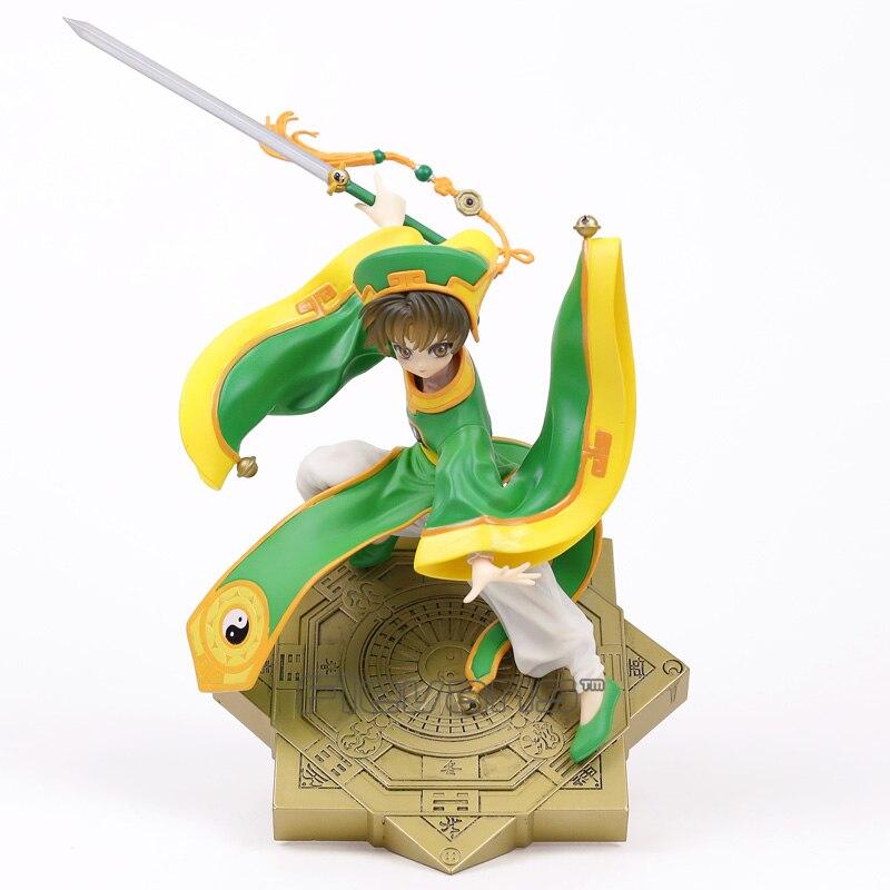 Dessin animé carte Captor Sakura Li Syaoran 1/7 échelle PVC Figure à collectionner modèle jouet 28 cm