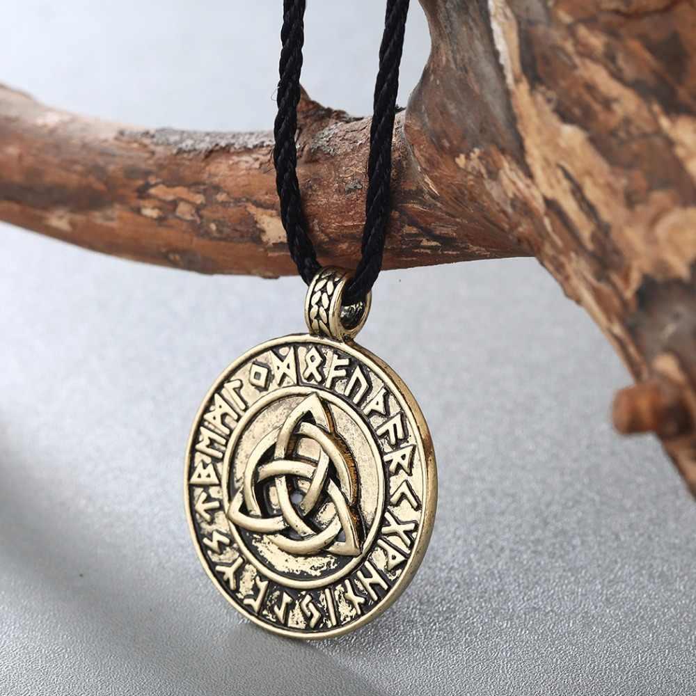 CHENGXUN nastolatek chłopcy urodziny prezent fajne Punk naszyjnik miłość węzeł celtycki nieskończoność wisiorek antyczne złoto mężczyźni amulet wikinga