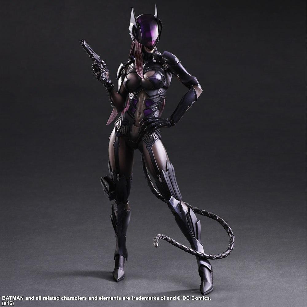 Final Fantasy Dc Comics Play Arts Kai Catwoman Action Figure Tetsuya Nomura