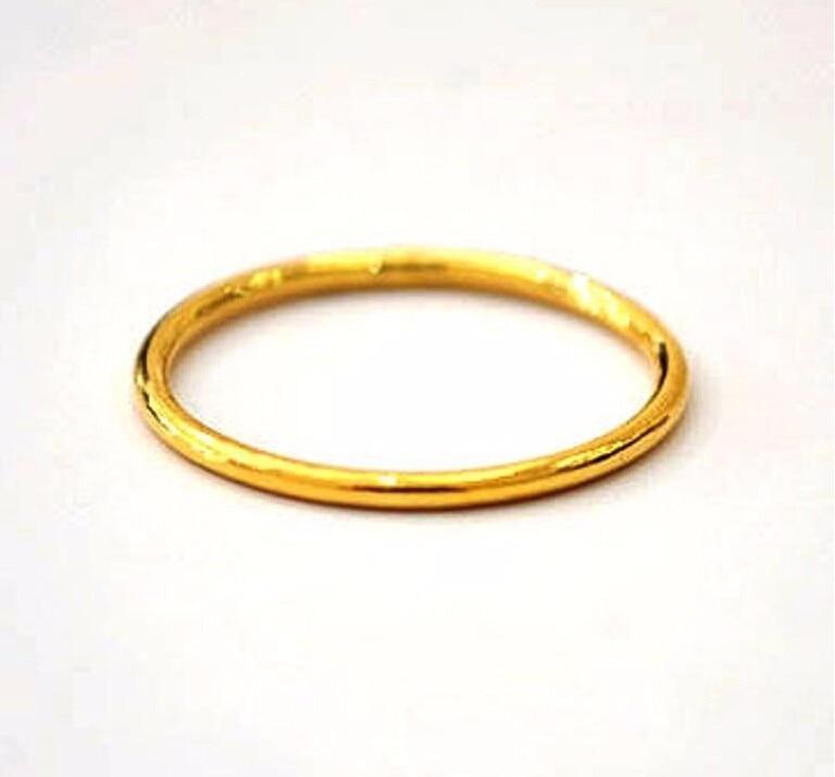 Fashion 999 Solid 24K Yellow Gold Ring /Lucky Men&Women Ring/ USA Size:5/ 1-2G diy flag large 1 5 meter size yellow