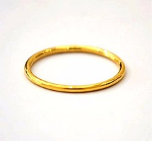 Fashion 999 Solid 24K Yellow Gold Ring /Lucky Men&Women Ring/ USA Size:5/ 1-2G