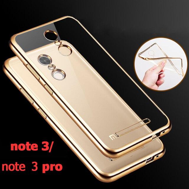 note3 clear Gold coque cover case for xiaomi redmi note 3 pro prime original armor transparent soft tpu phone back battery cases