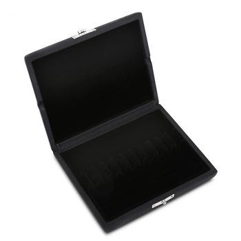 Obój Reed Box drewniane + PU Leather Cover Reed pojemnik do przechowywania schowek na 10 12 20 sztuk obój stroiki czarny tanie i dobre opinie CN (pochodzenie)
