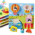 Children Cartoon Stereo Wooden Puzzle Insects Animals Marine Puzzles Eduacational Toys Funny Toys