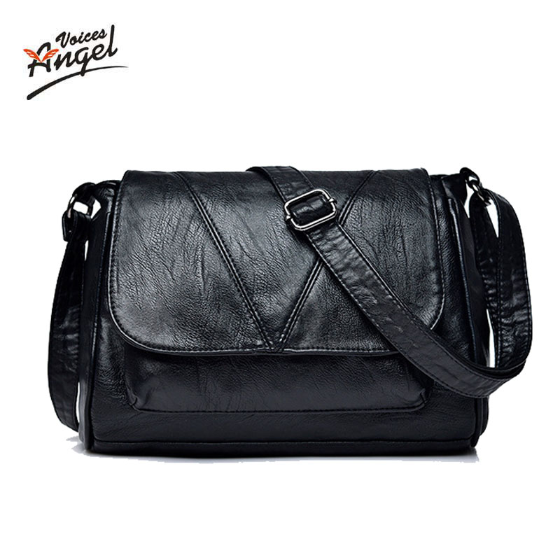 New Fashion Leather Handbag Women Cross Body Bag High Quality Lady Messenger Bags Bolsos Mujer Casual Female Shoulder Bag 2018 2018 vintage women messenger bag genuine leather good quality cross body lady shoulder bags female money keys phone tote bags