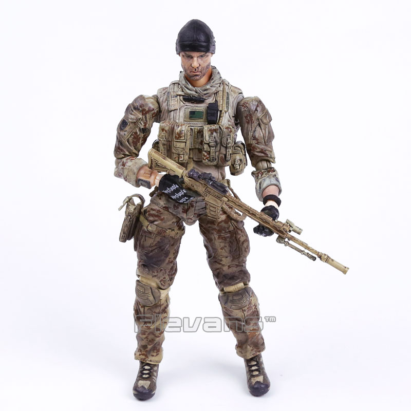 Army Medal of Honor Warfighter Game Tom Preacher Playarts KAI PVC Action Figure Collectible Model Toy 25cm neca planet of the apes gorilla soldier pvc action figure collectible toy 8 20cm