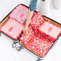 Travel Storage Bag Suit Travel Essential Luggage Bags Clothing Clothing Finishing Bag 6 Piece Suit