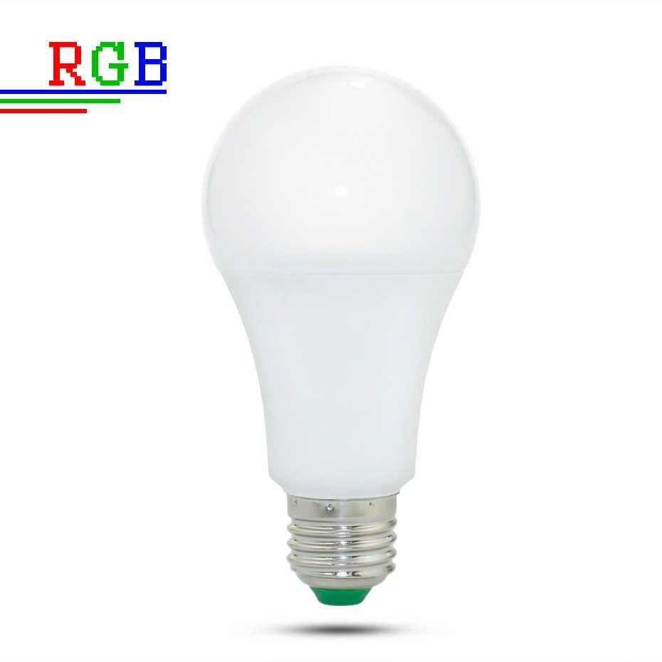 110V 220V E27 RGB HA CONDOTTO Le Luci di Lampadina 5W 10W 15W RGB Lampada Variabile Colorato RGBW HA CONDOTTO La Lampada Con Telecomando IR + Modalità di Memoria