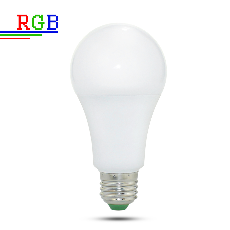 Image 2 - 110V 220V E27 RGB LED Bulb Lights 5W 10W 15W RGB Lampada Changeable Colorful RGBW LED Lamp With IR Remote Control+Memory Mode-in LED Bulbs & Tubes from Lights & Lighting