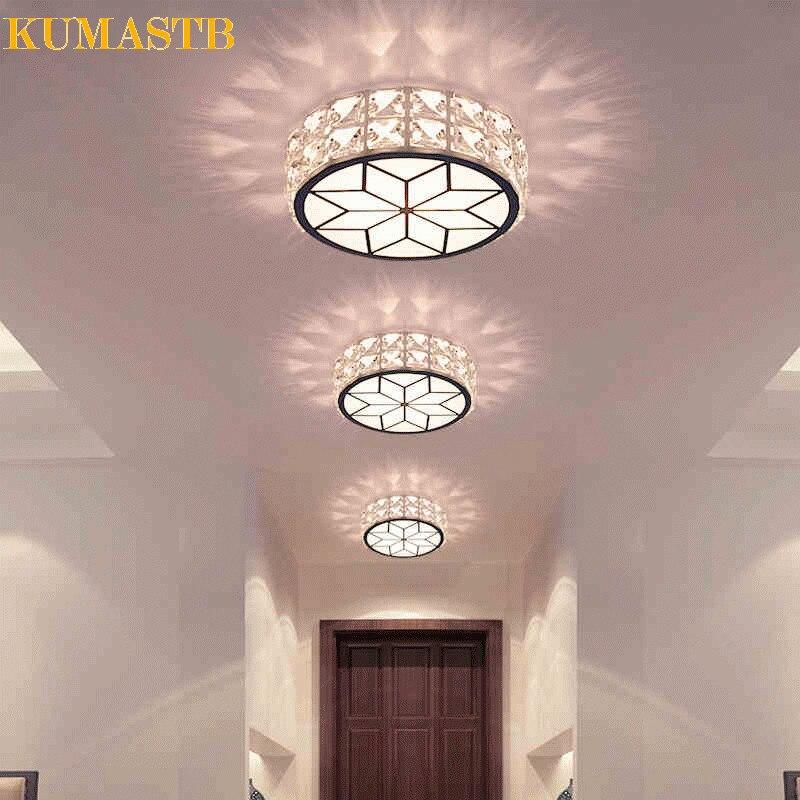 Творческий 3 Вт светодиодный круглый потолочный светильник проход коридор Luminarias Para Teto Гостиная plafon светодиодный балкон блеск de cristal kumastb