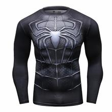 2016 Fitness Bodybuilding Marvel Avengers Cosplay Tights T Shirts Men Super Hero Iron Man Male T