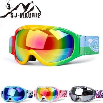 2f9faa3de8 SJ-Maurie nieve gafas niños gafas de esquí doble lente UV400 Anti-niebla  máscara gafas de esquí niñas Snowboard gafas