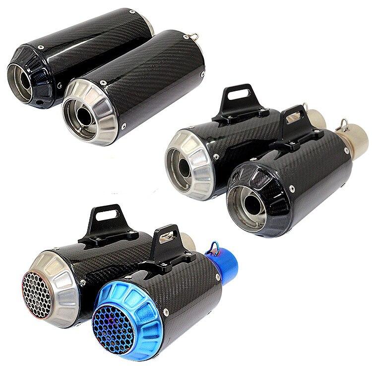 51mm Universal Motorcycle Carbon Fibre Muffler Exhaust pipe For KTM 990 DUKE S1000RR TMAX-530 FZ8 GY6 FZ6 K1 K2 K3 K4 K5 K6 K7 ktm k 3 k 32