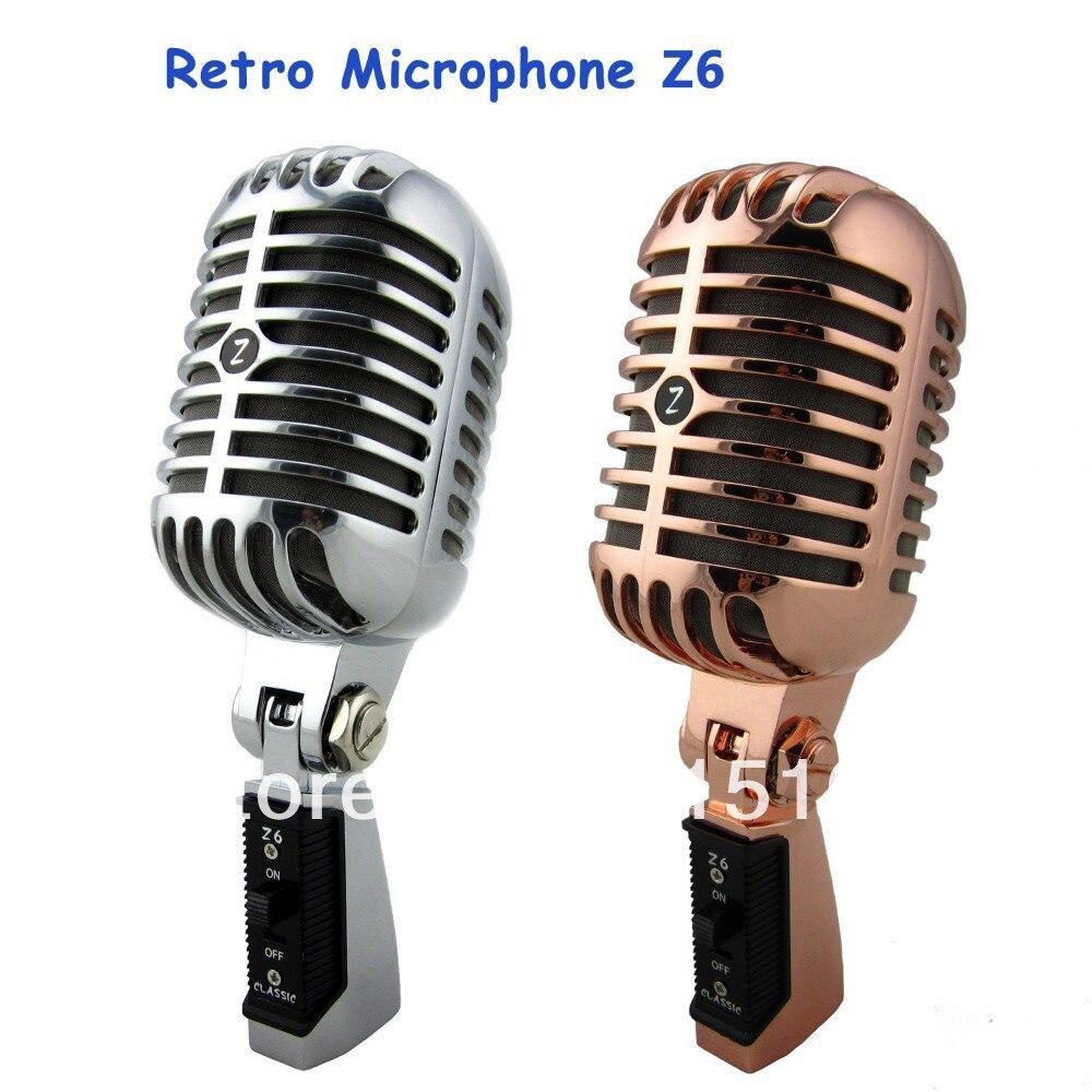 Micro professionnel rétro haut-parleur Jazz/blues Microphone avec maille métallique classique dynamique cabine de mariage Mic livraison gratuite
