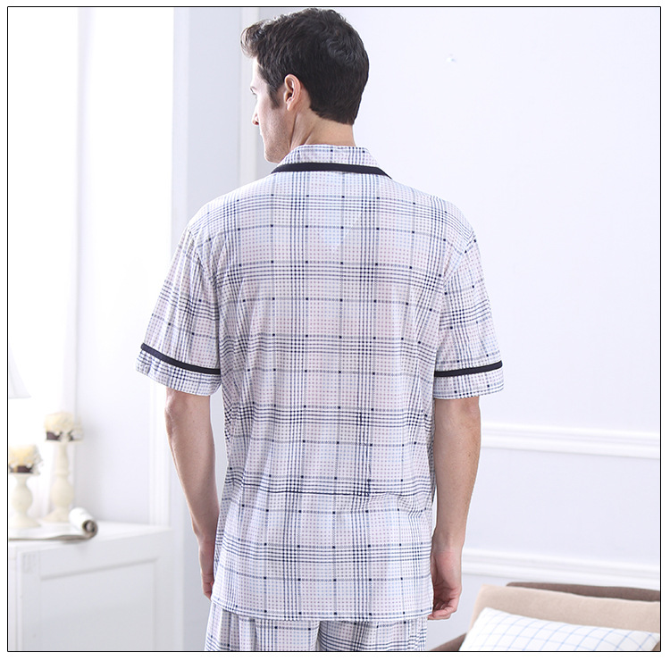 2018 Summer Men Pyjamas Short Sleeve 100% Cotton Casual Pajamas Set Sleep Shorts Suit Male Big Size Sleepwear Lingerie Xxxl Luxuriant In Design Underwear & Sleepwears