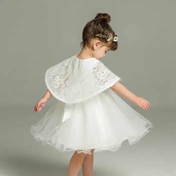 43742a4baca65 2pcs Set Of One Year Old Baby Girl Baptism Dress Princess Wedding