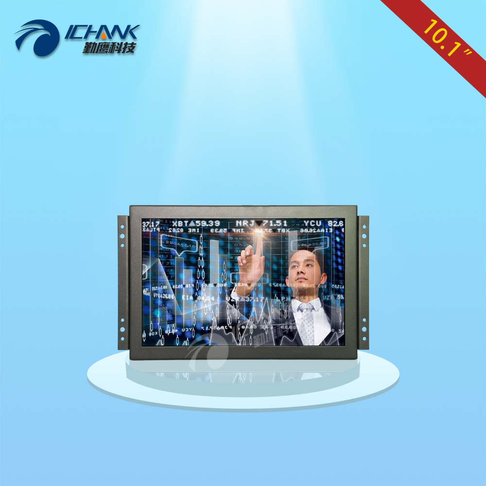 ZK101TC-V59/10.1 inch 1280x800 Full View HDMI VGA Metal Shell Embedded Open Frame Industrial Touch Monitor LCD Screen Display zk080tn 705 8 inch 1024x768 4 3 metal case vga signal open wall hanging embedded frame industrial monitor lcd screen display