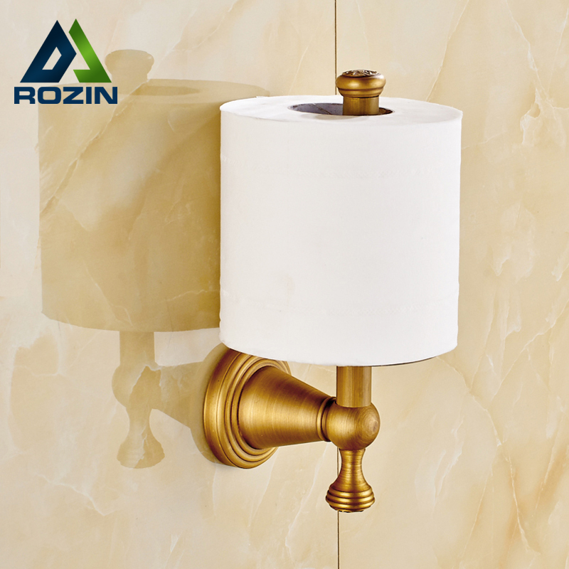 Free Shipping Wholesale And Retail Upstanding Toilet Paper Holder Antique Brass Wall Mounted Roll Paper Rack Rod free shipping wholesale and retail wall mounted paper holder oil rubbed bronze solid brass toilet paper boxer