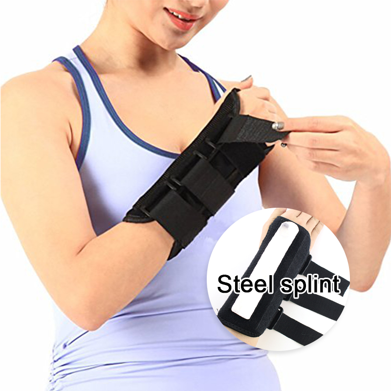 Wrist Support Brace Fracture Bracers Wrist Wraps Steel Plate Bracers Support Fracture Sprain Breathable Hand Wrist Brace ...
