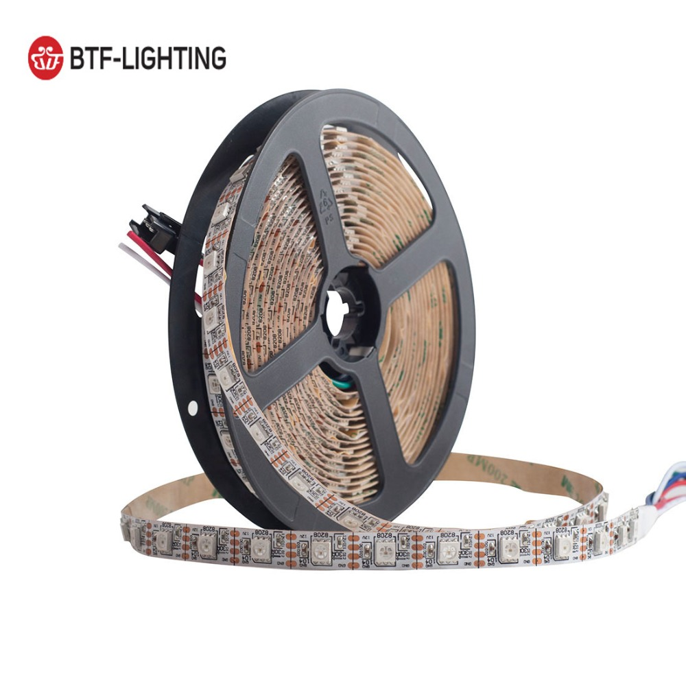 GS8208 RGB LED Pixel Strip 12V WS2812B WS2813 Dual Signal Individually Addressable 30 60pixels leds m